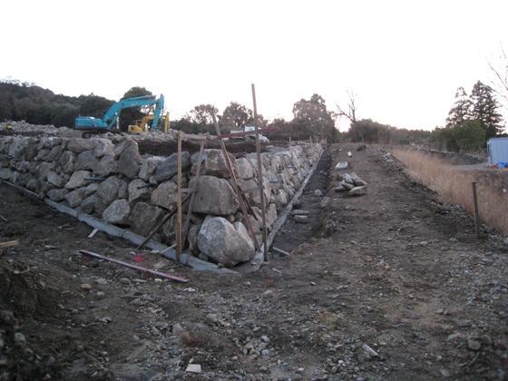 ぶどう園石垣