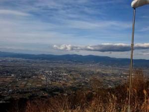 耳納連山のハンググライダーから見た風景