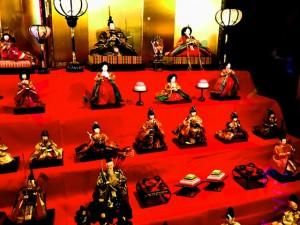 豆田町にある薫長酒蔵の中で飾られてあるお雛様